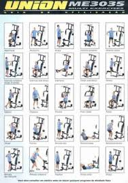 Multi Gym Exercise Chart 29 Best Multigym Images Multi Gym At Home Gym No