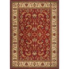 royalty red ivory 5 ft x 7 ft indoor area rug