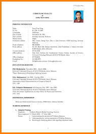 Curriculum Vitae Sample Format Malaysia Save Resume Format 2015