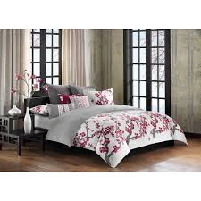 n natori cherry blossom multi cotton duvet cover mini set