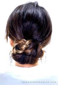 easy braided bun updo hairstyle for um long hair
