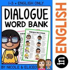 Dialogue Anchor Chart Dialogue Words Writing Anchor Chart