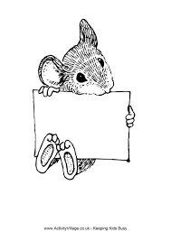 Small Picture Rat Colouring Pages