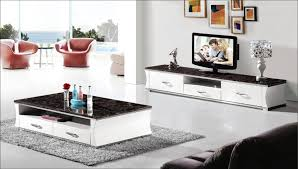 white shelves matching coffee table and tv stand grey carpet decorations contemporary glass transparant window