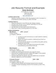 Sample Resume Writing Format – Kappalab