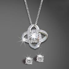tangled cz pendant set with chain