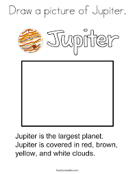 Small Picture Draw a picture of Jupiter Coloring Page Twisty Noodle