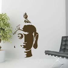 Buddha Head Decor Home Decor Wall Sticker Hot Buddha Head Wall Art Sticker Decal