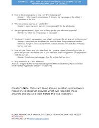 Scholarship Interview Questions We For Visa Basic Interview Questions