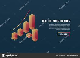Cool Banner Charts Data Visualization Concept Growing