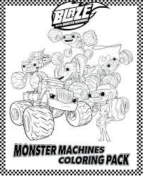 Blaze Coloring Pages Free Stylish Monster Truck Trucks And 14
