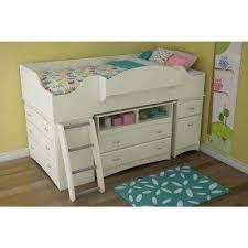 Image Toddler Girl Imagine 4drawer Pure White Twinsize Loft Bed The Home Depot Kids Bedroom Furniture Kids Furniture The Home Depot