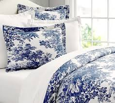 french blue toile bedding. Wonderful French Matine Toile Duvet Cover U0026 Sham Potterybarn I Like The French Blue Color To Bedding R