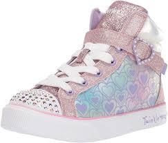 Skechers Kids Twinkle Toes Heart And Sole Light Up Sneaker Skechers Kids Twinkle Breeze 2 0 Heart Joys Sneaker