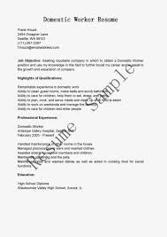 domestic helper resume food and beverage attendant sample resume format of engagement simple resume domestic helper domestic worker resume
