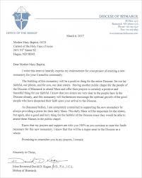Endorsement Letter Endorsement Letter of Bishop Kagan Carmel of the Holy Face Sisters 2