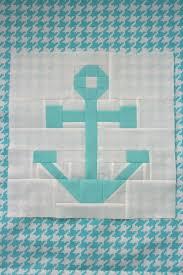 Nautical Anchor Quilt Blocks - Free Quilting Tutorial ... & Anchor Quilt Block Tutorial Adamdwight.com