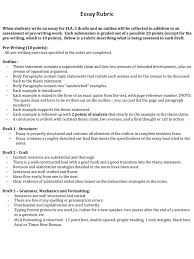 essay rubric the articles answer questions and select  1 essay rubric