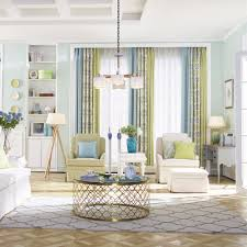 Patterned Curtains Living Room Patterned Print Color Block Poly Cotton Blend Country Curtains