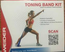 Weider Toning Band Kit 3 Levels Resistance Training D1