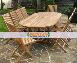 outdoor table and chairs. Cheap Garden Table Sets Outdoor Furniture Teak Wooden Single Extend Oval Pieces Chairs And