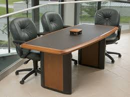 power and data connected conference table for six