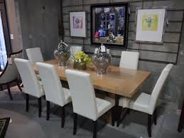 dining room astonishing contemporary white leather dining chairs