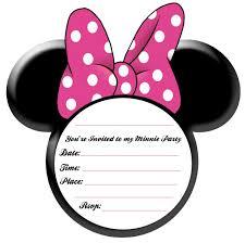 free printable minnie mouse invitations