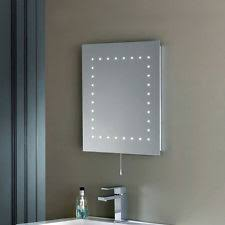 modern ip44 led illuminated bathroom cosmetic mirror light with pull switch new bathroom mirror with lighting