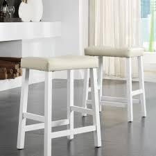 padded saddle bar stools. Charming Saddle Bar Stools For Iconic Part Of Kitchen Interior: White Padded N