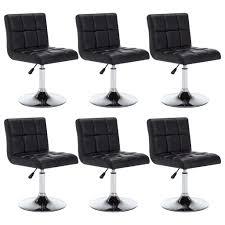 Drehbare Esszimmerstühle 6 Stk Kunstleder 50x43x85 Cm Schwarz
