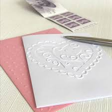 Heart Scrolls Heart Scrolls Pack Of 6 White Embossed Romantic Note Cards