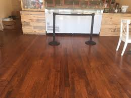 reclaimed maple flooring at honeycomb creamery