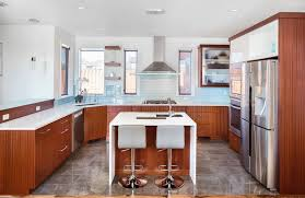 u shaped kitchen designs with breakfast bar window treatment ideas frosted glass cabinet under cabinet sink