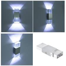 Battery Operated Up And Down Light 220v Modern 4w Led Wall Light Bathroom Light High Quality Aluminum Case Acrylic Crystal Wall Lamp Bedroom Living Room House Wall Canada 2019 From