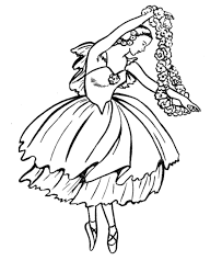 Ballet Coloring Pages Free Coloringstar