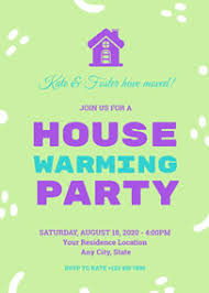Housewarming Card Templates Make Housewarming Invitations Online With Free Templates