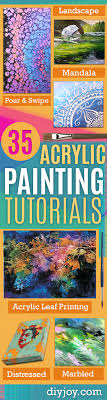 acrylic painting tutorials and techniques diy acrylic painting ideas on canvas make flowers