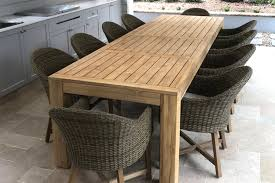 teak outdoor table coastal wicker dining chairs