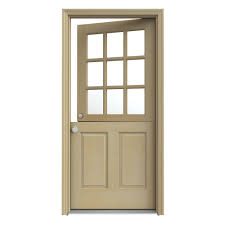 unfinished dutch right hand inswing 9 lite clear wood prehung front door w brickmould