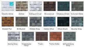 Oakridge Shingles Color Chart Owens Corning Duration Shingles Corning Duration Shingles In