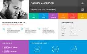 resume web templates cv html site templates wrapbootstrap