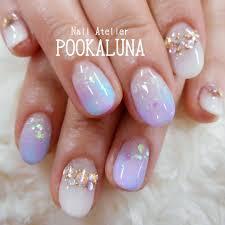 Pookaluna さんのネイルデザイン 春夏人気のデザインですブル