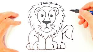 easy lion drawings.  Easy How To Draw A Lion For Kids  Easy Draw Tutorial Throughout Drawings O