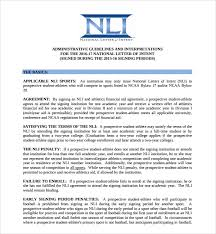 Letter Of Intent For University Enchanting 48 National Letter Of Intent Templates Sample Templates
