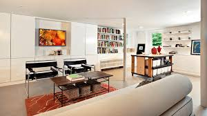 Basement ideas for family Family Room Collect This Idea Colorful Bookshelf In Neutral Basement Mobosinfo Basement Decorating Ideas That Expand Your Space