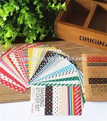 Labelling Art Scrapbooking Washi Kit Basic Masking Tape Craft Stickers Pack