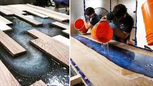 10 Erstaunliche Epoxidharz Und Holz Fluss Tisch Designs Diy