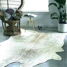 metallic cowhide rug silver rugs pewter gold faux 5 x free black met