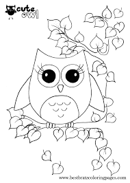 Cute Owl Coloring Pages New Printable - glum.me